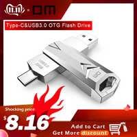 DM PD098 clé USB 32GB OTG métal USB 3.0 clé USB type Flash c clé usb haute vitesse clé USB clé USB