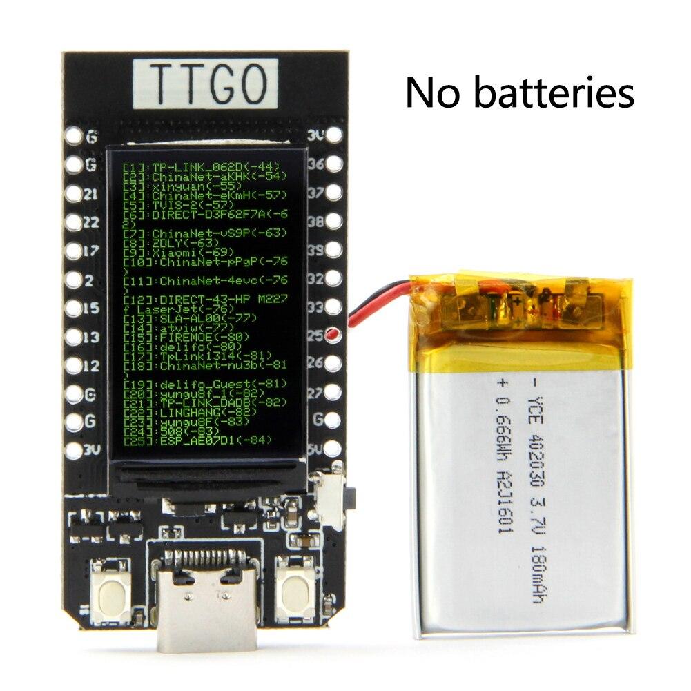 Tipo C 1,14 Pulgadas TTGO T-display ESP32 WiFi Módulo De Conversión Componentes USB WIFI Reemplazo Electrónico Portafusibles