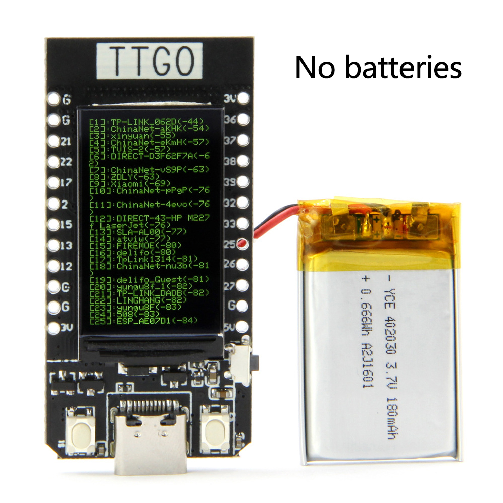 Type-C 1.14 Inch TTGO T-Display ESP32 WiFi Module Conversion Components USB WIFI Replacement Electronic Fuse Holder