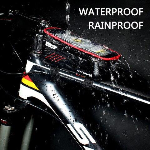 WILD MAN Mountain Bike Bag Rainproof Waterproof Mtb Front Bag 6.2inch Mobile Phone Case Bicycle Top Tube Bag Cycling Accessories Lahore
