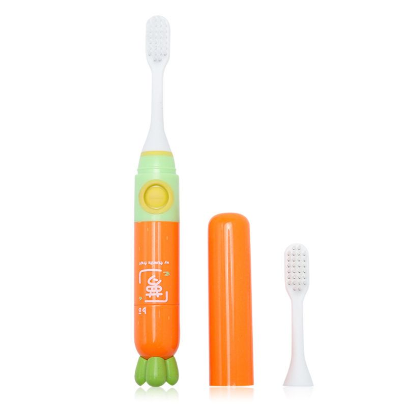 Cute Children Kids Sonic Electric Toothbrush Portable Travel Mini Cartoon Boys Girls Toothbrushes 72XC image