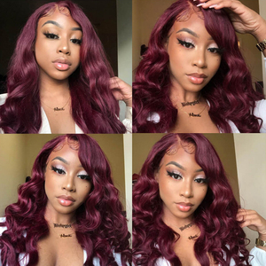 Image 3 - 99J/Burgundy Body Wave Human Hair Bundles With Closure 4x4 KEMY HAIR Brazilian Hair Weave Bundles With Lace Closure Non Remy