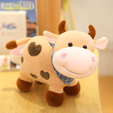 1pc Lovely stuffed cow toy for baby kid Cute And Warm LittleCow Pillow Sofa Backrest Plush Toys For Children Kids Birthday Gift cheap CN(Origin) 8~13 Years Birth~24 Months 14 years old 2-4 Years 5-7 Years Grownups PP Cotton Animals Nature kids toys Gift for Kids Baby Children
