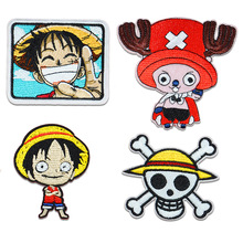 Patches Clothing Stickers Iron-On Japanese Anime One-Piece for Garment Wholesale