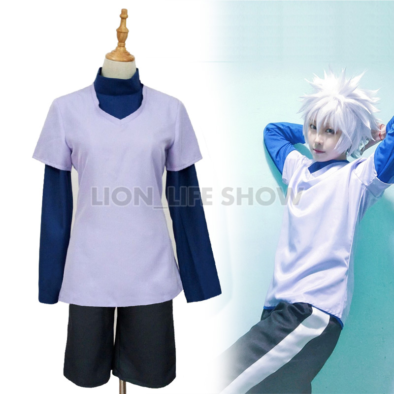 Костюм для косплея Hunter x Hunter Killua Zoldyck, костюм для косплея на заказ, униформа Killua Zoldyck, парик