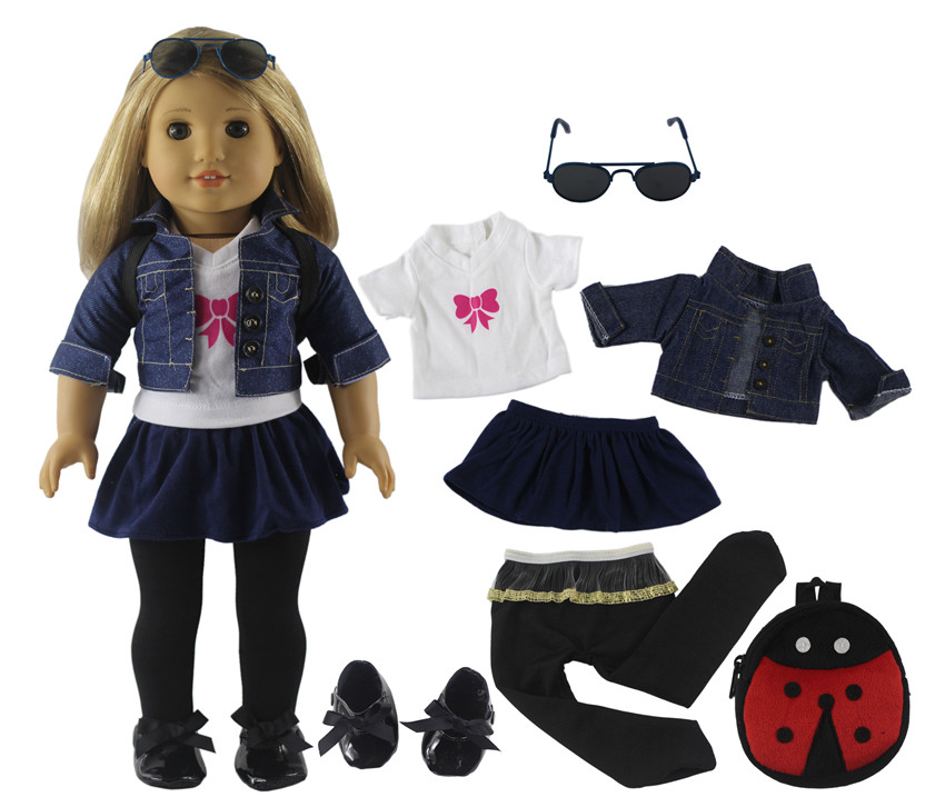 Fashion Doll Clothes Set Toy Clothing Outfit For 18 Inch American Doll Casual Clothes Many Style For Choice X116