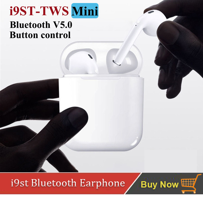 i9st tws Mini Wireless bluetooth earphone Stereo V5.0 Bluetooth Headphone Sports Headset Earbud with Mic for All Smart Phone