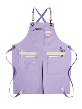 Nail apron custom logo fashion pink milk tea coffee baking barber shop florist restaurant work clothes