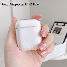 Прозрачный чехол для airpods pro pc жесткий корпус защитный