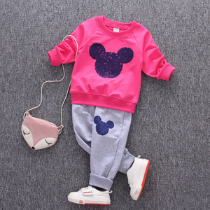 Image 5 - 1 2 3 4 Year Children Clothing Set Long Sleeve Shirts + Pants Kids Clothes for Boys Spring Fall Girls Suits Baby Toddler Costume