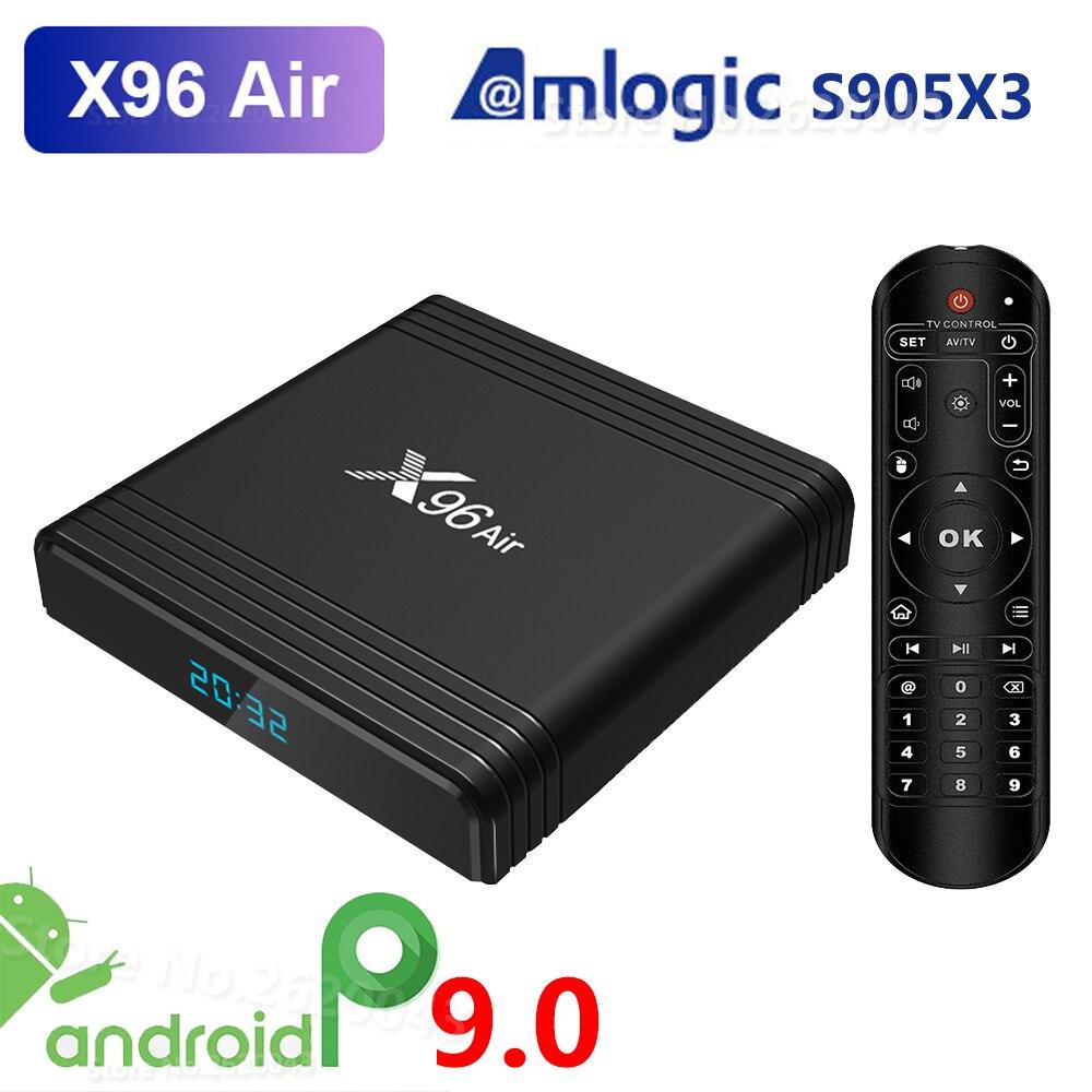X96 Air Amlogic S905X3 Android 9.0 TV BOX 4GB RAM 32GB 64GB ROM Wifi Media Player 2GB 16GB X96Air 4K 8K UHD Smart Set Top Box