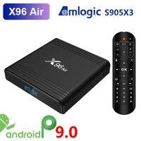 X96 Air Amlogic S905X3 Android 9 0 TV BOX 4GB RAM 32GB 64GB ROM wifi Media Player 2GB 16GB X96Air 4K 8K UHD Smart Set-Top-Box