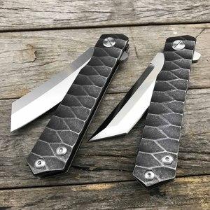 Image 5 - LDT Twosun Tanto سكين للفرد D2 شفرة الصلب مقبض السكاكين التكتيكية التخييم بقاء الصيد جيب الزعنفة سكين EDC أدوات