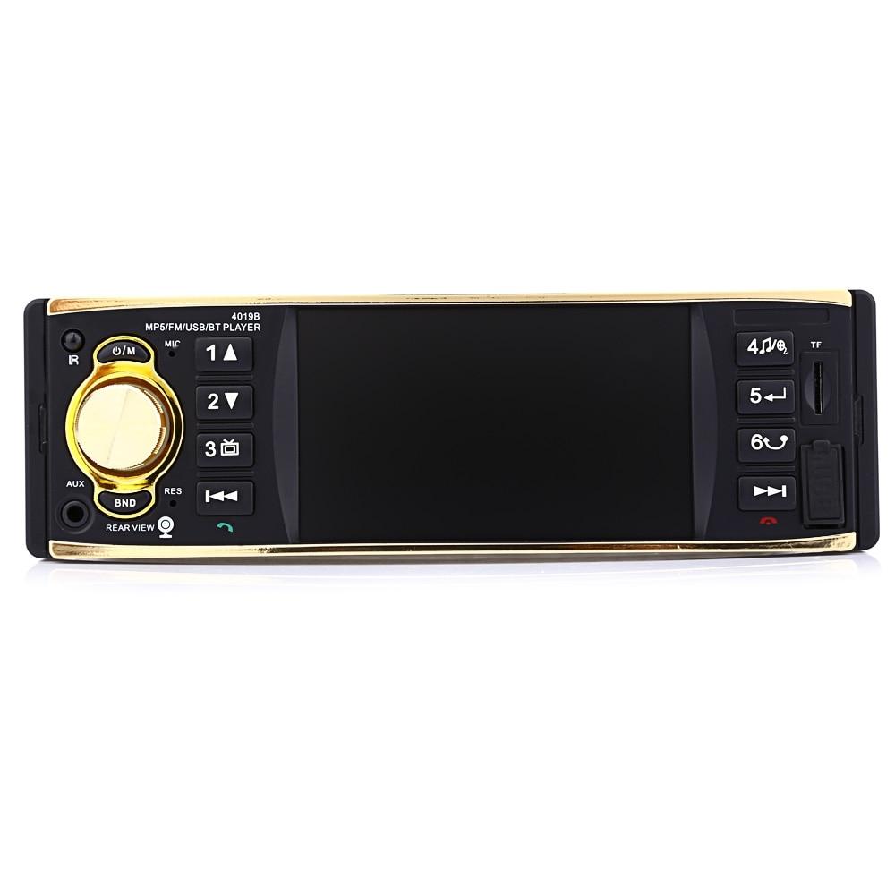 4.1 pouce 1 Din Auto Radio avec caméra de recul télécommande autoradio Audio stéréo adaptateur AUX FM Radio Station Bluetooth