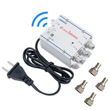 التيار المتناوب 220 فولت 3 طريقة CATV كابل التلفزيون الخائن مكبر للصوت 20dB التلفزيون الرقمي هوائي إشارة الداعم المنزل التلفزيون المعدات 45Mhz إلى 860MHz