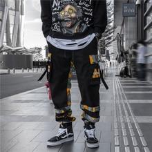 US Size Streetwear Camouflage Patchwork Sweatpants Men Jogger Elastic Waist 2019 Autumn Mens Camo Joggers Casual DG182