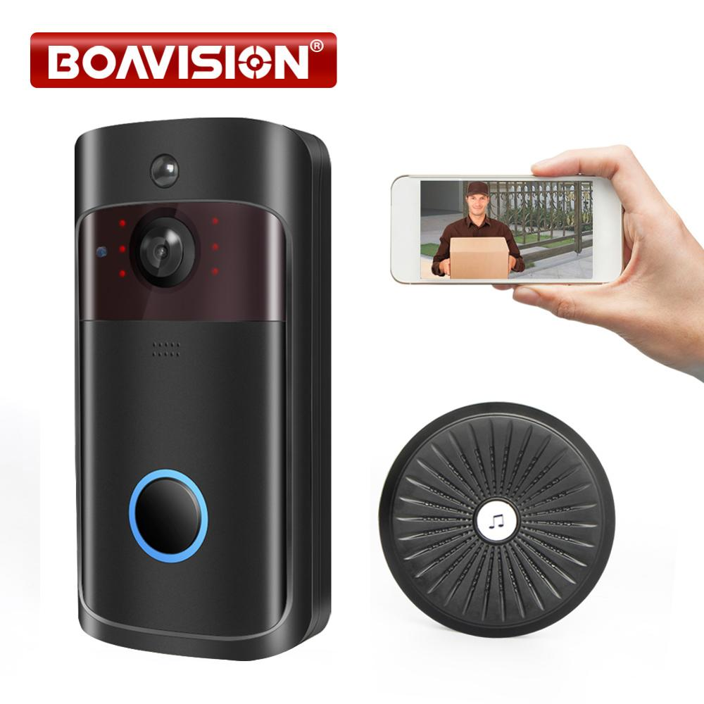 720P Video WIFI Doorbell 850nM IR 5M Wireless Door Bell Wi-Fi 1.0MP Recording With SD Card Slot Indoor Use IOS Android APP Tosee