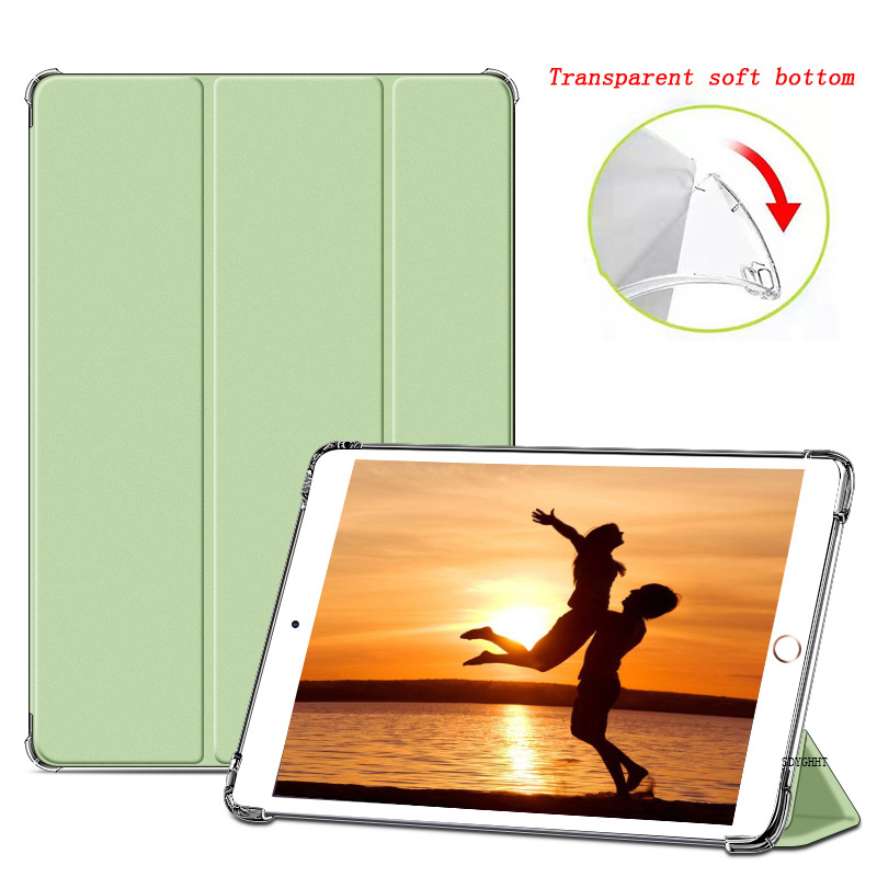 Matcha green 1 Green 2020 case For iPad 10 2 inch 8th 7th Generation model A2270 A2428 Silicone soft bottom