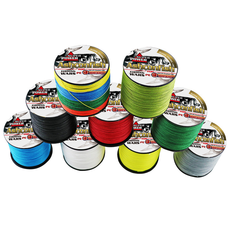 Strong Japan multifilament Pe super 4x braided line 1000M 6LB-40LB fishing tools braid wires 0.10mm-0.32mm sea fishing thread