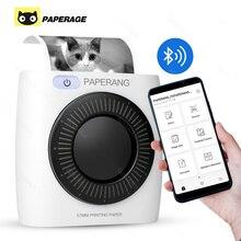 PAPERANG P2 כיס מיני 58mm נייד Bluetooth מדפסת טלפון תמונה אלחוטי חיבור HD תרמית תווית מדפסת 1000mAh סוללה