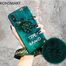 For Xiaomi Redmi Note 7 5 Pro Case K20 K20Pro Go 7A 5A S2 Rhinestone Holder Blue Light Soft Phone Cover