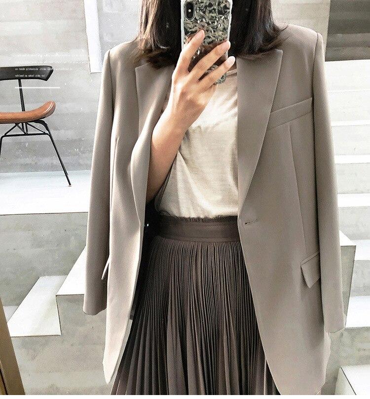 Fall 2020 Women suit Blazer women Jacket Elegant Loose coat Casual Office Lady Long Sleeve Slim winter Blazers jacket for Female
