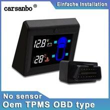 Carsanbo Car Tire Pressure Monitoring System OBD TPMS Car Battery Voltage No Sen