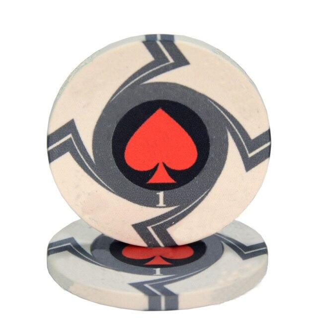 25 pièces/lot en céramique Texas jetons de Poker professionnel Casino européen jetons ensemble 39*3.3mm 10g 5