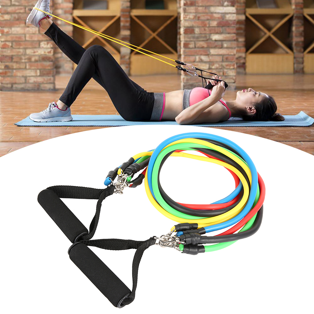 11-13pcs Fitness Resistance Bands 10