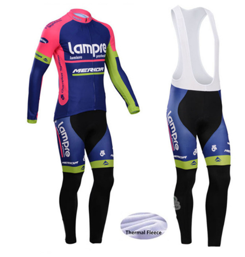 2019 Pro New lampre  Cycling jersey Winter Thermal Fleece long sleeves maillot ciclismo mtb bike cycling clothing
