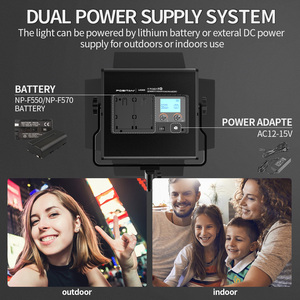 Image 5 - Travor L4500K  Bi color 2set  LED Video Light Kit Prefessional Camera light Dimmable Led light video With Tripod and Bag