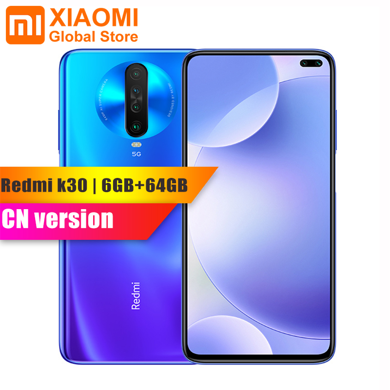 Original Xiaomi Redmi K30 5G 6GB RAM 64GB ROM Smartphone Snapdragon 765G Octa Core 64MP Quad Camera HDR 10 Display Fast Charging