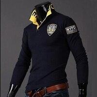 ZOGAA, брендовые новые мужские рубашки поло с длинным рукавом, мужские рубашки поло, одноцветные рубашки поло с 3D вышивкой, мужские повседневн...