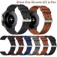 Nieuw Horloge Band 22Mm Lederen Band Voor Huawei Gt 2 GT2 Pro Horloge Riem Vervangingen Honor Magic 1 2 46Mm Horloge Heren Riem