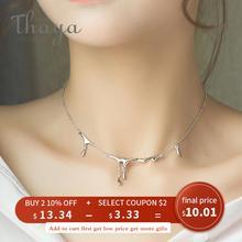 Thaya design original queda chuva lesão s925 prata esterlina colar simples gargantilha colar feminino jóias presente para as mulheres