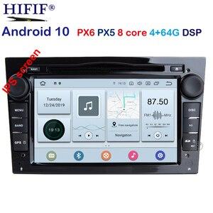 PX6 DSP Android 10 4G 2 din Car GPS For Opel Vauxhall Astra H G J Vectra Antara Zafira Corsa Vivaro Meriva Veda DVD Player