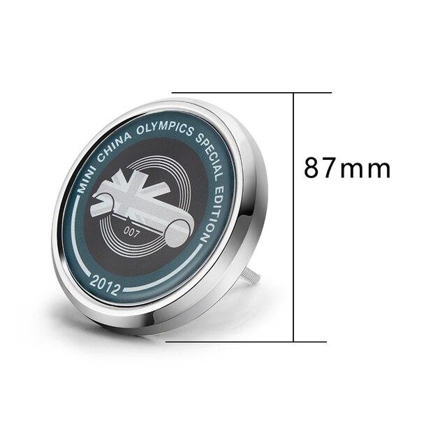 Car accessories exterior For BMW MINI COOPER S JCW F55 F56 F60 R55 R60 clubman Front Bumper Grill Metal 3D Emblem Badge Sticker