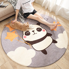 Cartoon Eco-friendly Lamb Cashmere Living Room Non-slip Carpet Round Sofa Bedroom Tatami Bedside Mat fashion round carpet bedroom ins bedroom living room coffee table mat bedside carpet anti slip mat strong absorbent carpet