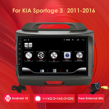 9 2Din Car Android Radio multimedia player for Kia sportage 2011-2016 autoradio video GPS Navi WiFi 4G mirror link DAB USB image