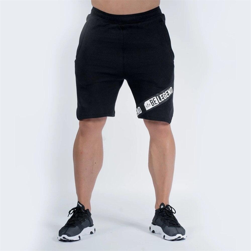 Casual Shorts Men Gyms Fitness Bodybuilding Cotton Short Pants 2020 Male Joggers Workout Short Sweatpants Summer Bermuda Bottoms