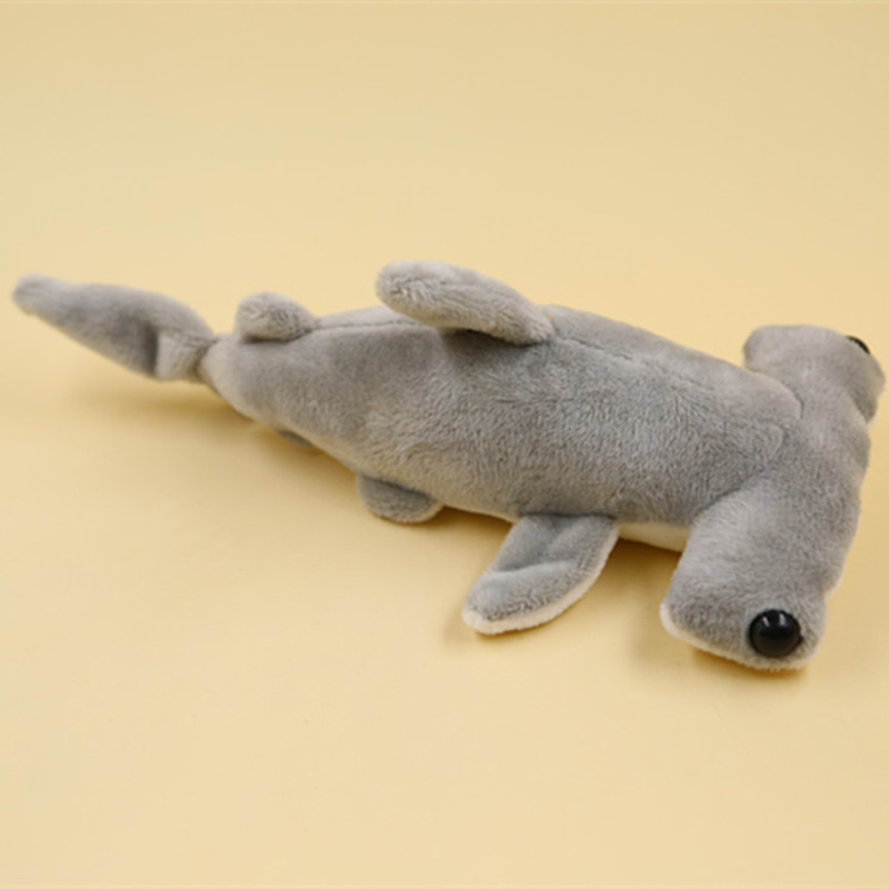 1Pcs Hot Kawaii 20CM Cute Flat Shark Stuffed Toys Marine Series Pendants Plush Toy Dolls For Kids Gifts PP Cotton