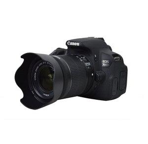Image 5 - 10 teile/los EW 63C Schwarz/weiß Blume form Objektiv Haube für EF S 18 55mm f/3,5  5,6 IST STM