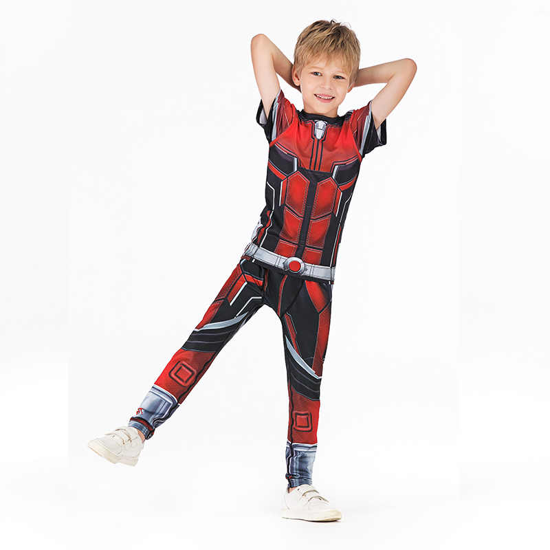 ילדים MMA אגרוף סט דחיסת גופיות + מכנסיים ילדי MMA Rashguard אימון חולצות מכנסיים בני נוער בגדי MMA