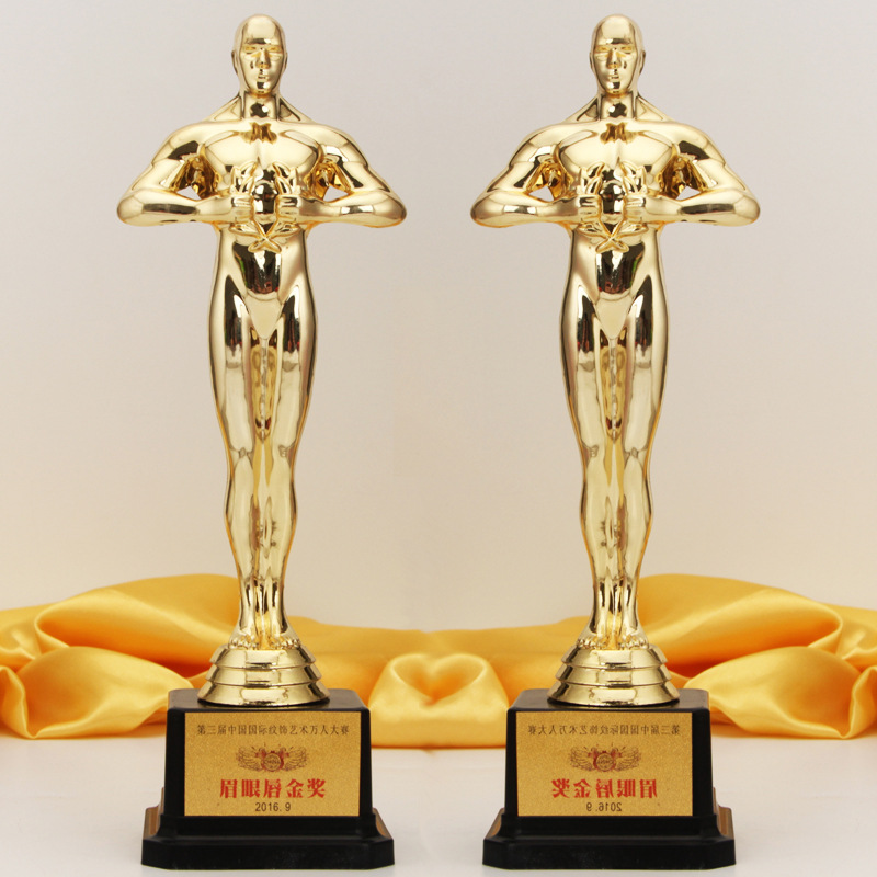 Manufacturers Direct Selling Oscar Statuette Plastic Trophy Angel Wings Business Decorations Trophy Statuette