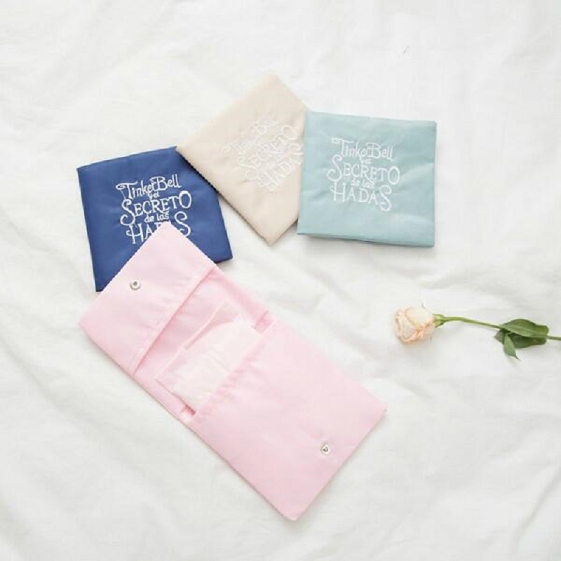 2020 New Sanitary Pad Pouch Mini Folding Women Cute Bag For Gaskets Napkin Towel Storage Bags Pouch Case Sanitary Pad Organizer