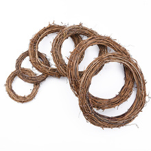 Flower-Frame Garland Rattan-Ring Dried Floral-Wreaths Artificial-Flowers Christmas-Decoration