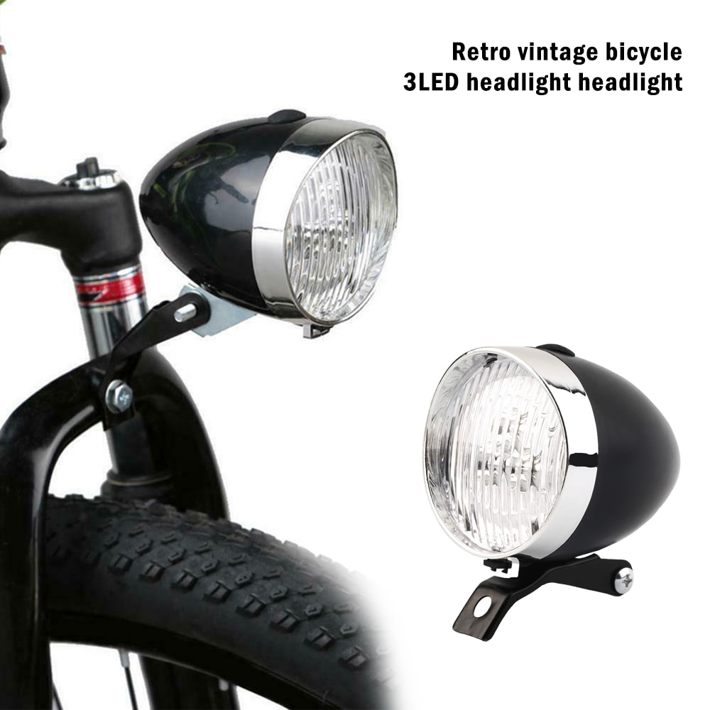 3LED Retro Front Tail Lamp Bicycle Bike CyclingHeadlamp Headlight LightCycling d