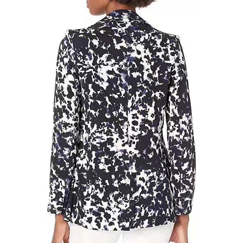 H4ebb4ed3d61d406b820db23e8305690eT Fashion Trend Women Lapel Leopard Print Long Sleeves Suit Jacket Elegant Fall Winter Office Lady Cardigan Coat Casual Streetwear