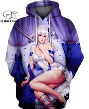 PLstar Cosmos japan Anime Sexy Girls 3d hoodies/Sweatshirt Winter long sleeve Pullover Fashion Harajuku streetwear plstar cosmos emoji ahegao funny lovely kawaii 3d hoodies sweatshirt long sleeve men women newest streetwear harajuku fashion 7