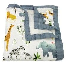 100%Bamboo-Fiber Blanket Swaddling Muslin Newborn-Baby Babies Bedding for Super-Comfy